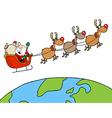 Team of reindeer and santa vector