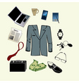 Bussiness man accessories vector