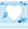 Photo frame or greeting card in blue vector