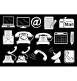 Set of communication tools vector