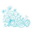 Hand drawn floral doodle vector