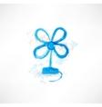 Blue blower grunge icon vector