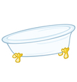 Standing bathtub vector