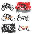 Motorbike motorcycle icons vector