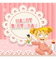 Happy birthday my little princess - baby girl vector