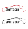 Calligraphic sport car logo vector