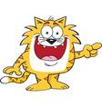 Cartoon pointing cat vector