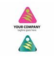 Triangle logo icon with bird idea vector