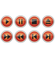 Control navigation button icons vector