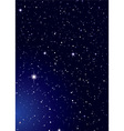 Dark nights sky with stella galaxy and twinkle sta vector