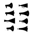 Horn silhouette set vector