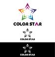 Color star logo template vector