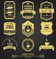 Luwak coffee premium vintage label vector