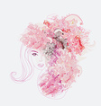 Creative fashion portrait vector