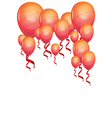 Beautiful color balloons vector