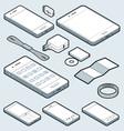 Isometric mobile vector