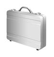 Silver briefcase vector