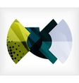 Abstract blank banner made of pieces vector