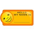 Name tag vector