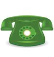 Green phone vector