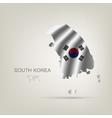 Flag of south korea as a country vector