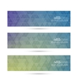 Set of banners with triangles and polygon mesh vector