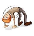 A boy bending backward vector