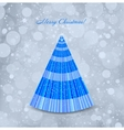 Christmas blue background with tree vector
