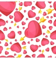 Hearts and arrow seamless background vector