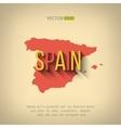 Spain map in flat design spanish border vector