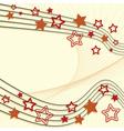 Retro star background vector