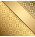 Golden vintage background with gradient vector