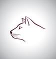 Cat head logo vector