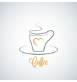 Coffee cup concept background vector