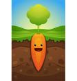 Happy carrot vector
