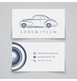 Business card template classic car logo vector