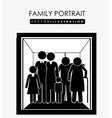 Family portrait desing vector