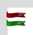 Ribbon promotional products design vector