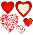 Collection valentine hearts vector