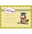 Owl teacher in format vector