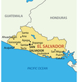 El salvador - map vector