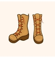 High autumn shoes with laces vector