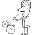 Saboteur businessman cartoon vector