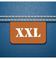 Xxl size clothing label - vector