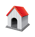 Dog house isolated vector
