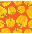 Yellow bell pepper seamless background vector