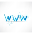 Network grunge icon vector