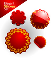 Elegant stickers and seals vector