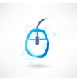 Computer mouse brush icon vector