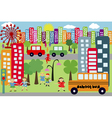 Doodle city for children vector